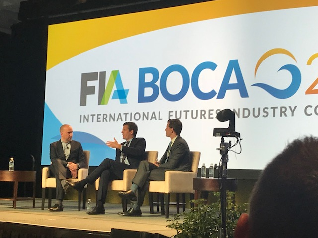 Nick Solinger from FIA Tech interviewing the Winklevoss twins at FIA Boca